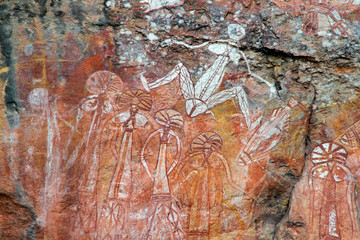Aboriginal rock art at Nourlangie, Australia