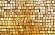 Golden mosaic wall background
