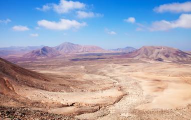 Northern Fuerteventura, view west from Montana Roja (Red mountai