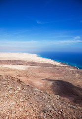 Northern Fuerteventura, view north from Montana Roja (Red mounta