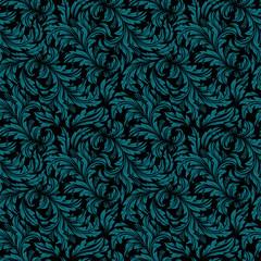 Seamless vintage wallpaper, floral pattern, retro wallpaper.