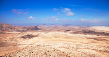 Northern Fuerteventura, view north from Montana Roja (Red mounta