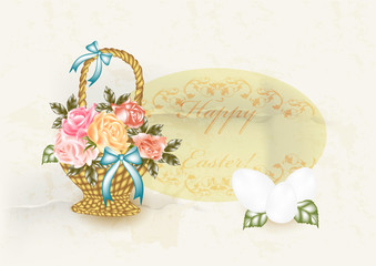 Easter greeting card in vintage style