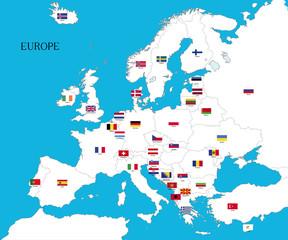 europa con bandiere