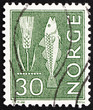 Postage stamp Norway 1963 Rye and Fish