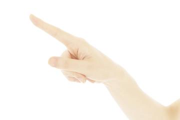 手 指さす