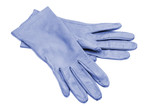 Fototapety Blue leather gloves