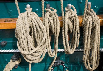 Ropes on USS Constitution