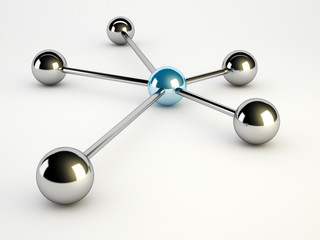 network concept on white background with a sphere