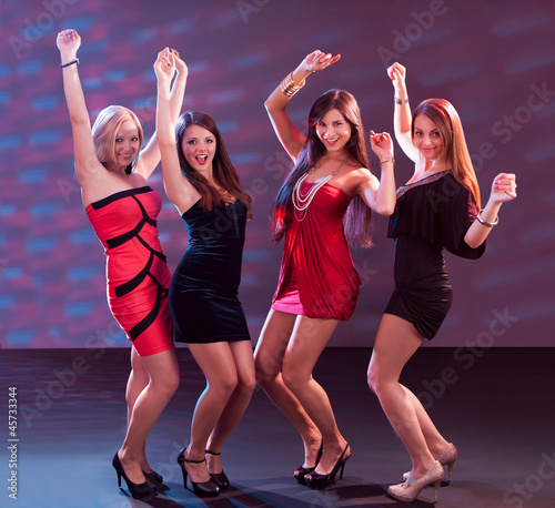 Group of women dancing