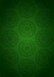 Yeşil fonda cami desenleri