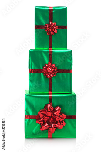 Three presents isolated