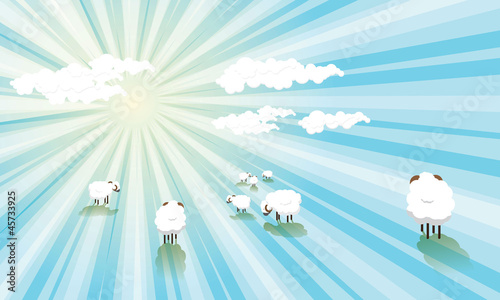 Abstract Clouds and Sheep