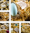 Collage - Gold jewelry