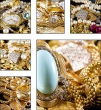 Collage - Bijoux en or