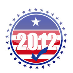 2012 usa flag seal illustration design