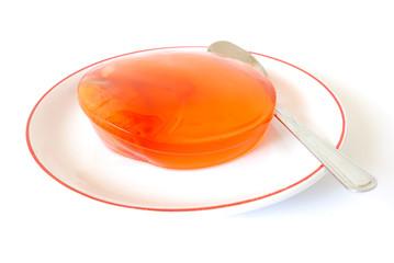 Zalacca jelly on saucer