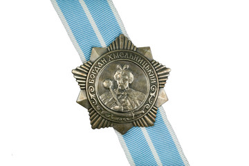 Order of Bohdan Khmelnytsky III degree on the ribbon.