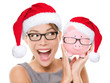 Christmas glasses eyewear sale concept