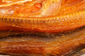 smoked fish as a background