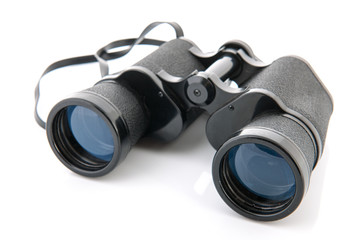 Binoculars isolated over white