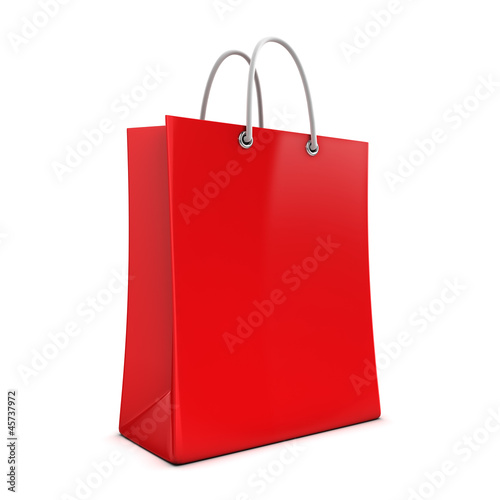 3d Red Shopping Bag