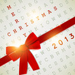 Holiday banner with red ribbons. Vector background. 2013 New Ye