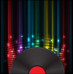vinil disk music volume equalizer concept idea background