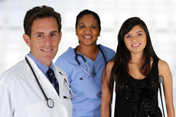 Doctor with Nurse and Patient