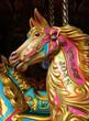 The Colourful Head of a Fun Fair Carousel Horse.