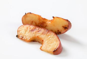 Pan fried apple slices