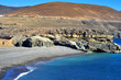 black sand beach in Ajuy, Fuerteventura, Spain