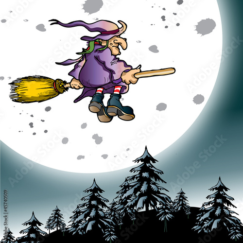 witch and moon - 45740509