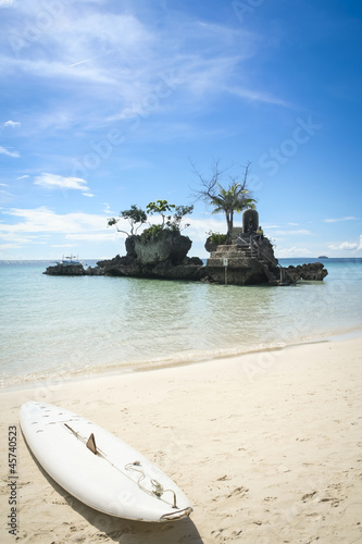 paddle board boracay white beach philippines