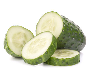 Sliced cucumber vegetable