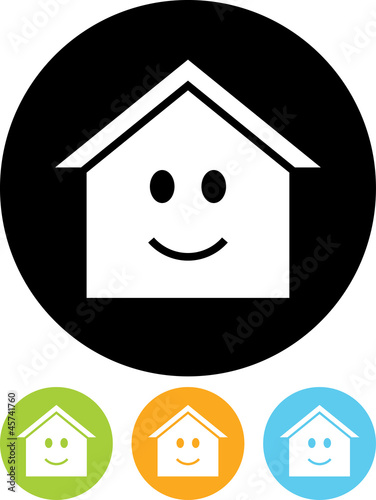 Vector icon isolated on white - House