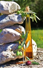 frische Oliven mit Öl