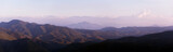 Sunset in the mountains, panorama