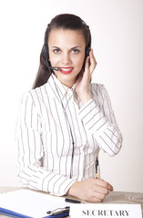 Beautiful young secretary