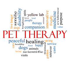 Pet Therapy Word Cloud Concept
