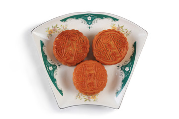 A plate of mooncake