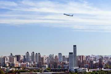 View from the helicopter for Buenos Aires, Argentina