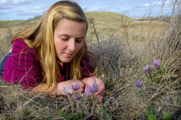Prairie Spring Crocus and Saskatchewan Girl