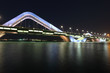 Sheikh Zayed Bridge at night, Abu Dhabi
