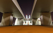Sheikh Zayed Bridge at night, Abu Dhabi