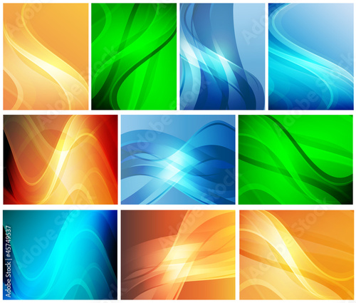 A set of abstract backgrounds