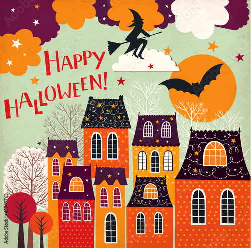 Halloween holiday card