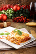 Lasagna with tomato and bechamel sauce