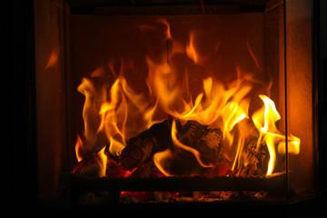 gemütliches Kaminfeuer