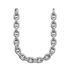 3d Chain Alphabet Font - U